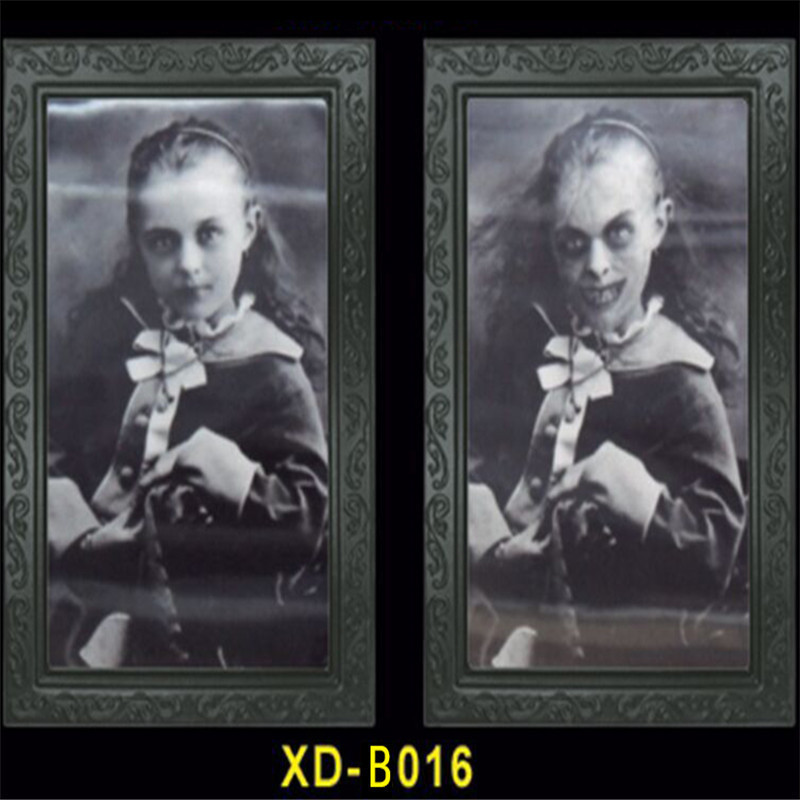 3D Face Changing Picture Frame Portrait Monster Haunted Spooky Halloween Home Wall Decor