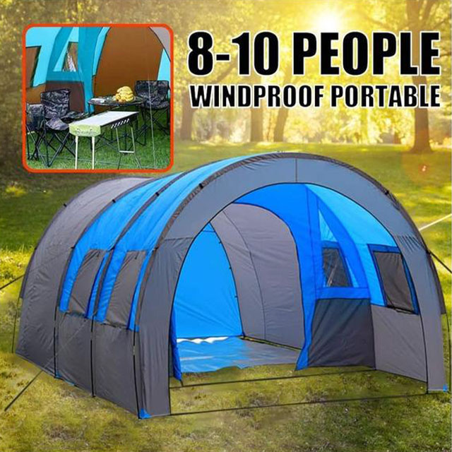 Camping Tent – 10 Person Family travel tunnel tent