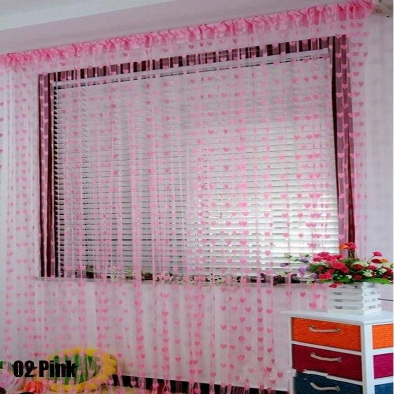 Love line curtain colorful romantic string house living room ornaments windows