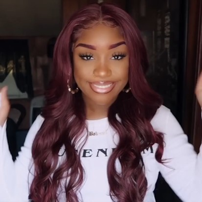 Special Off | Beautiful Burgundy wine Color Body Wave Wig