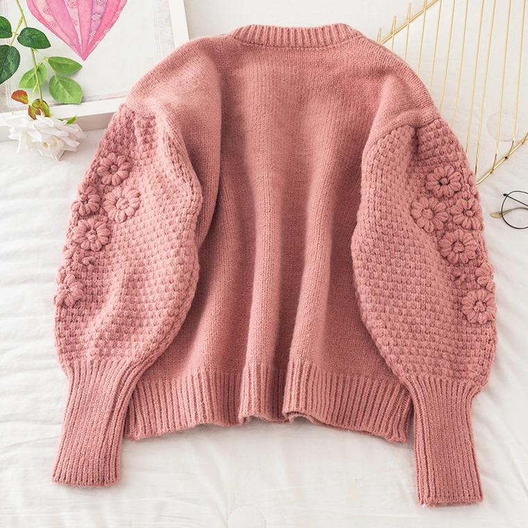 Casual Polyester Long Sleeve Round Neck Plain with Sweater