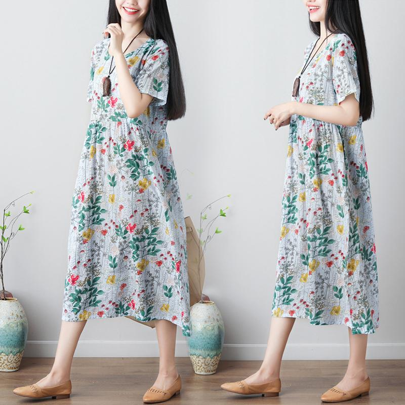 Colorful retro summer-style dress