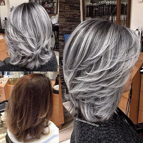 Gray Wigs Natural Hair Line Lace Frontal Wigs Brown Wig With Blonde Highlights Curly Colored Wigs Gray Wig With Black Roots Mixed Gray Lace Front Wigs Dark Red Wigs