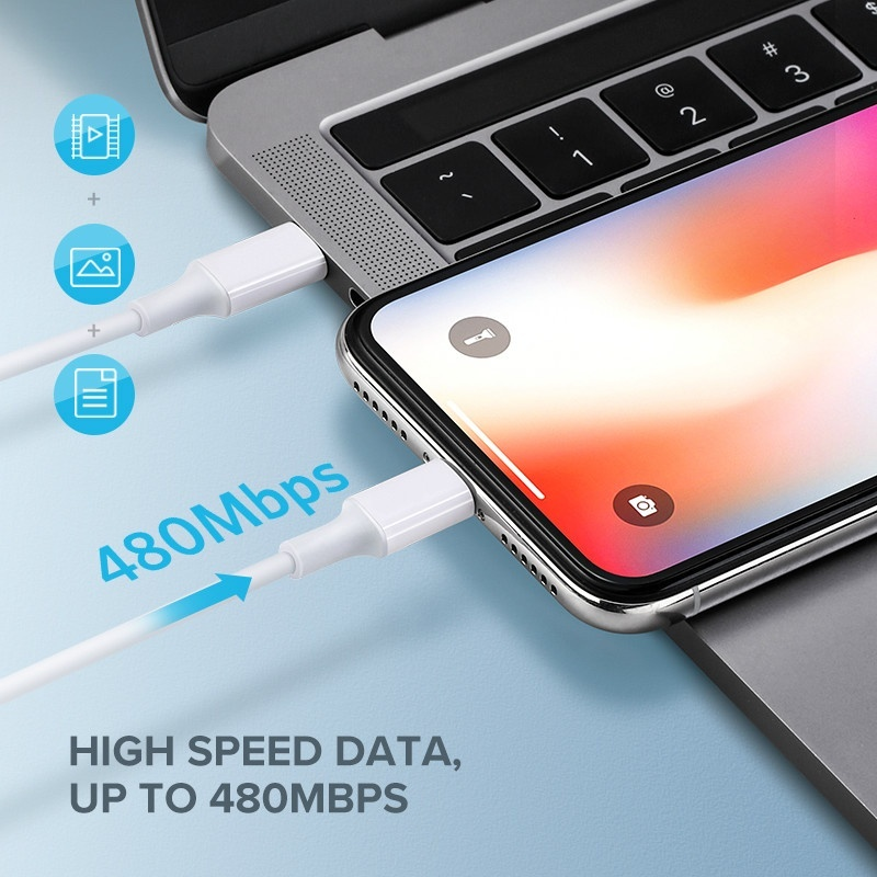 PD Fast Charging Cable for IPhone Xs X 8 USB Type C To Lightning Charger Cable 3A Quick Charger Data Cable for Type C Lightning for MacBook