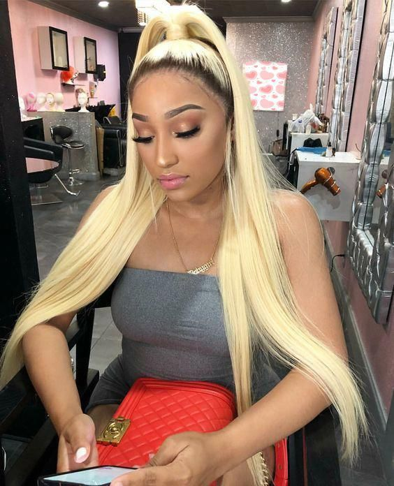 2020 Fashion Blonde Wigs For White Women Blonde Ombre Highlights Ash Blonde Extensions Icy Platinum Blonde Ombre Blonde To Brown Strawberry Blonde Bob Lace Frontal Wigs