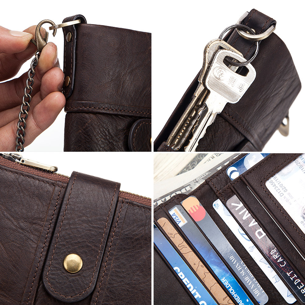 Anti  leather multifunctional buckle wallet