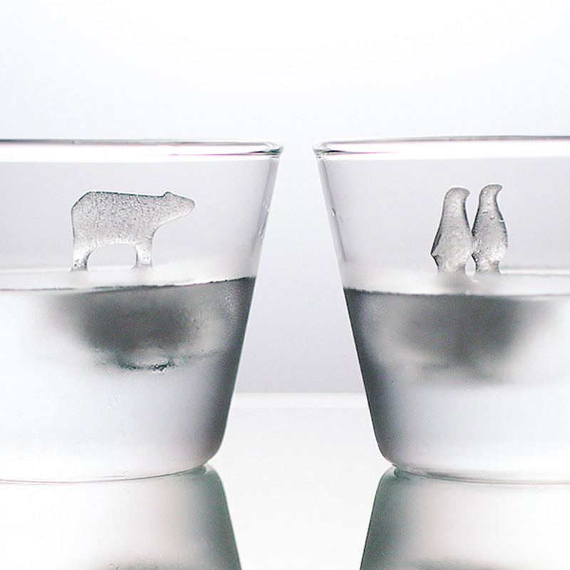 Polar Bear Penguin Shape Ice Cube Molds