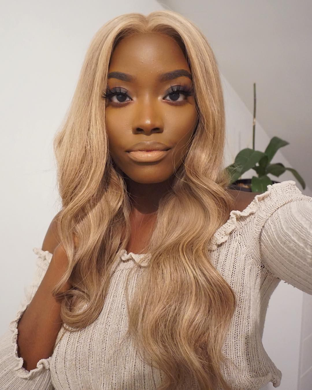 Blonde Wigs For Black Women Lace Front Strawberry Blond Hair Color 360 613 Frontal 613 Peruvian Hair Blonde Deep Wave