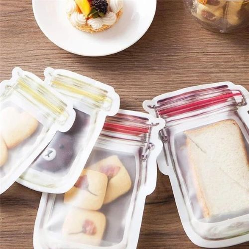 (SUMMER HOT SALE)Reusable Mason Bottle Ziplock Bag--Discount 50% OFF