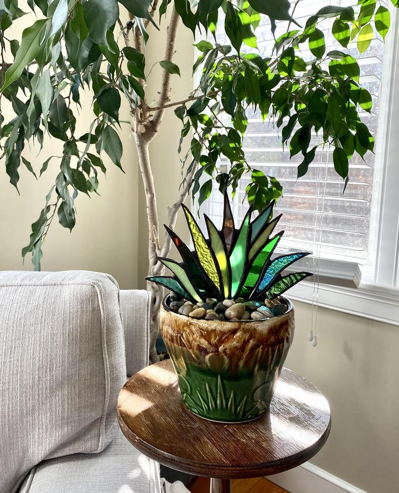 Stained Agave Plante-Buy More Save More