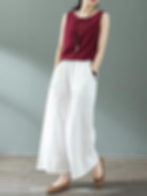 Jossie Willow Cotton & Linen Wide Leg Pant