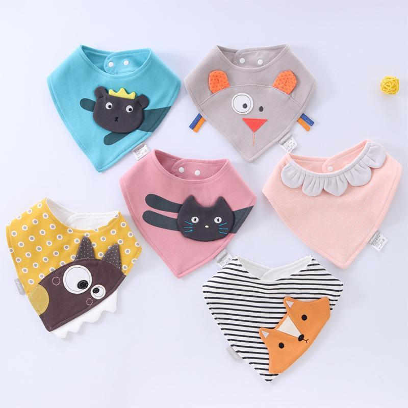 Mix 31 colors baby bibs Burp Cloths infant dimensional embroidered triangle towel cotton slobber towel Baby Feeding bibs for babies