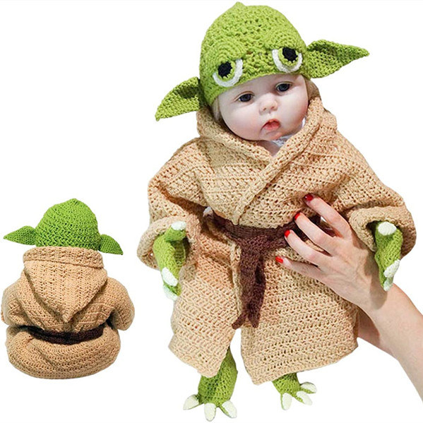 Baby Yoda Infant Costume for 0-6 Month Newborn(Hats, coats, gloves, belts, & shoes.)