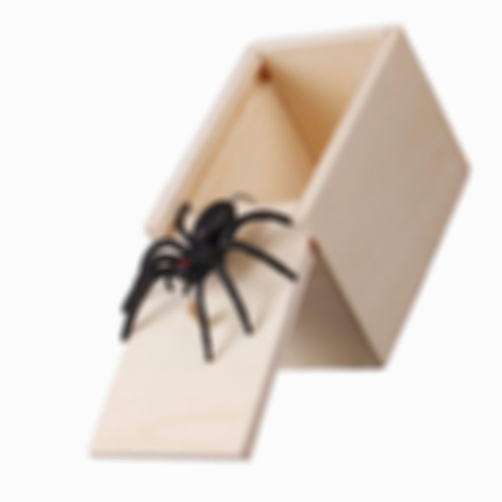 KISSLAY™ Wooden Prank Spider Scare Box