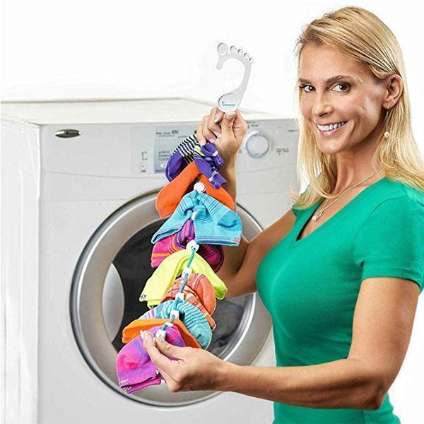 SKRTEN Adjustable Non-slip Sock Storage Organizer Hang Bask Rope