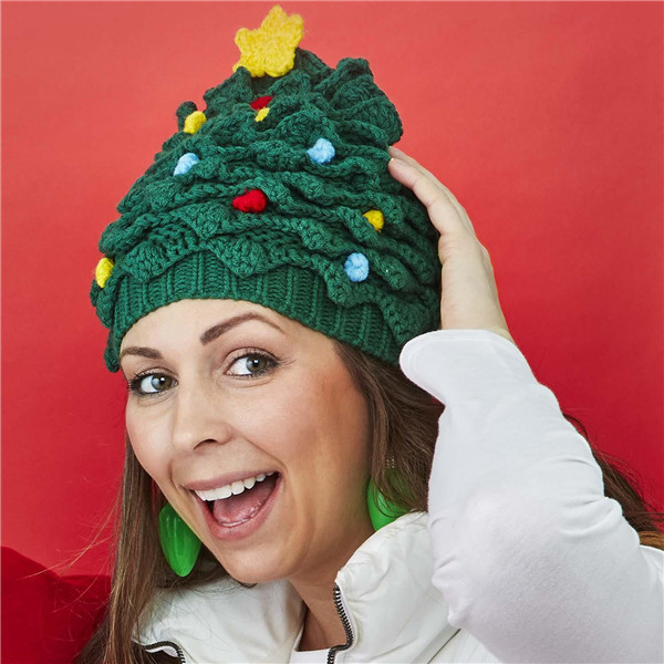 BUY 2 FREE SHIPPING - 🎄Christmas Tree Hand-Crocheted Hat🎄