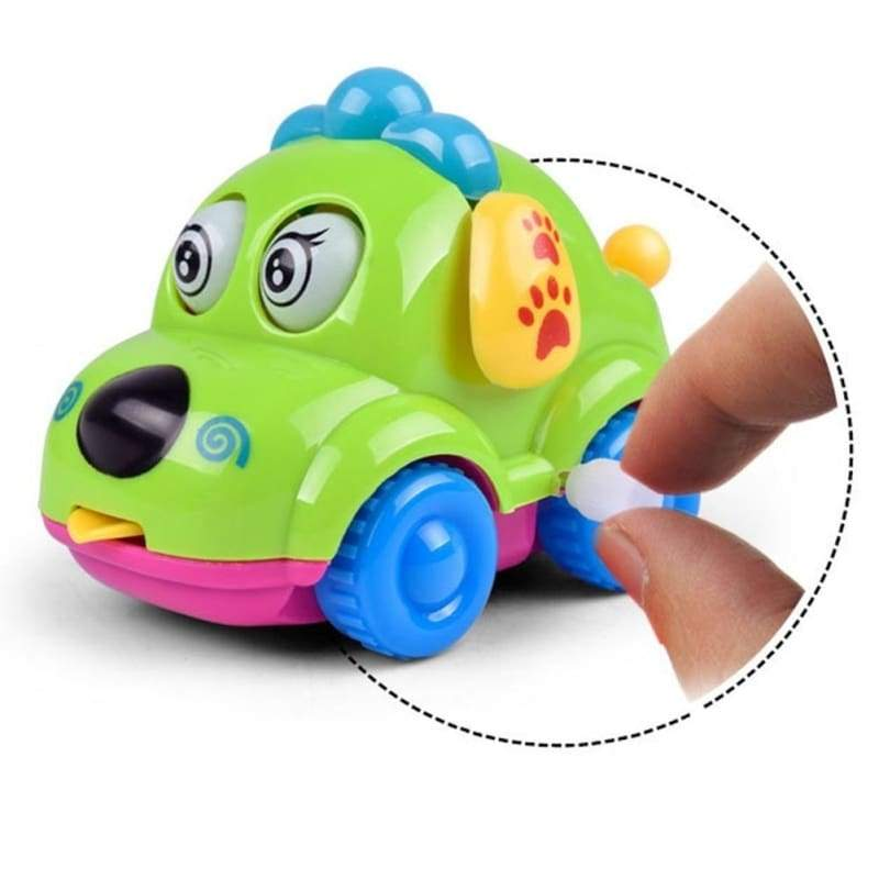 Best Gift For Baby Random Color Cute Cartoon Running Car Wind Up Toy Clockwork Classic Baby Toddler Kids Toy