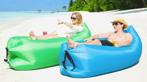 Outdoor Camping Inflatable Sofa Lazy Bag Ultralight Beach Sleeping Bag Air Bed Inflatable Sofa Lounger Travel Trending Products