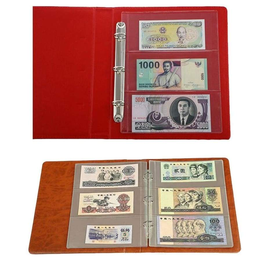 Leaf Sheet 180x80mm Album Accessory Collection Supplies Money Storage Collectors Album leaflet Paper Money Album 3 holes leaflet  Currency Banknote Collecting