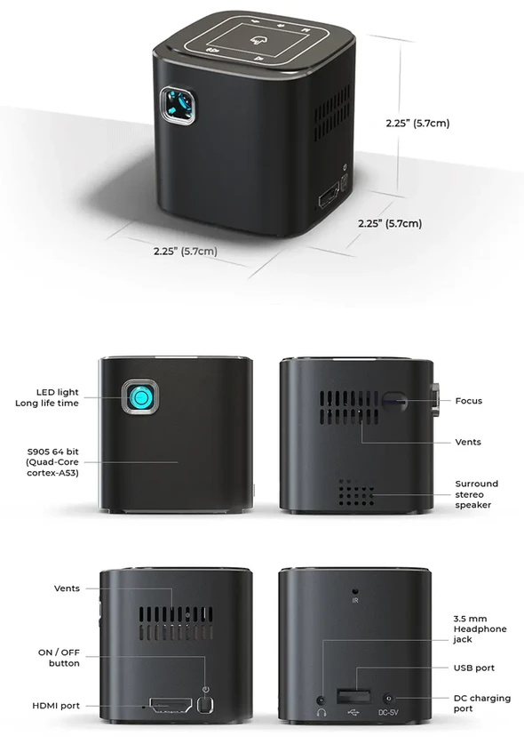 $18.99 Sale Now!!! 2020 New Mini Projector | A Cinema In your Pocket