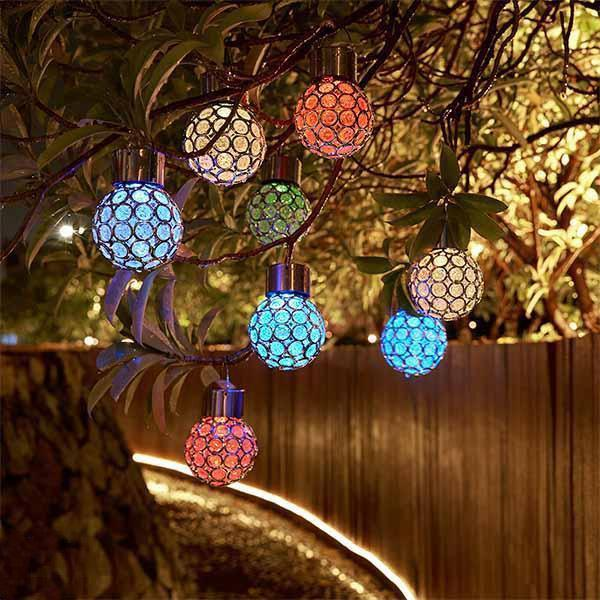 Solar-Powered Multi-Color LED Crystal Ball