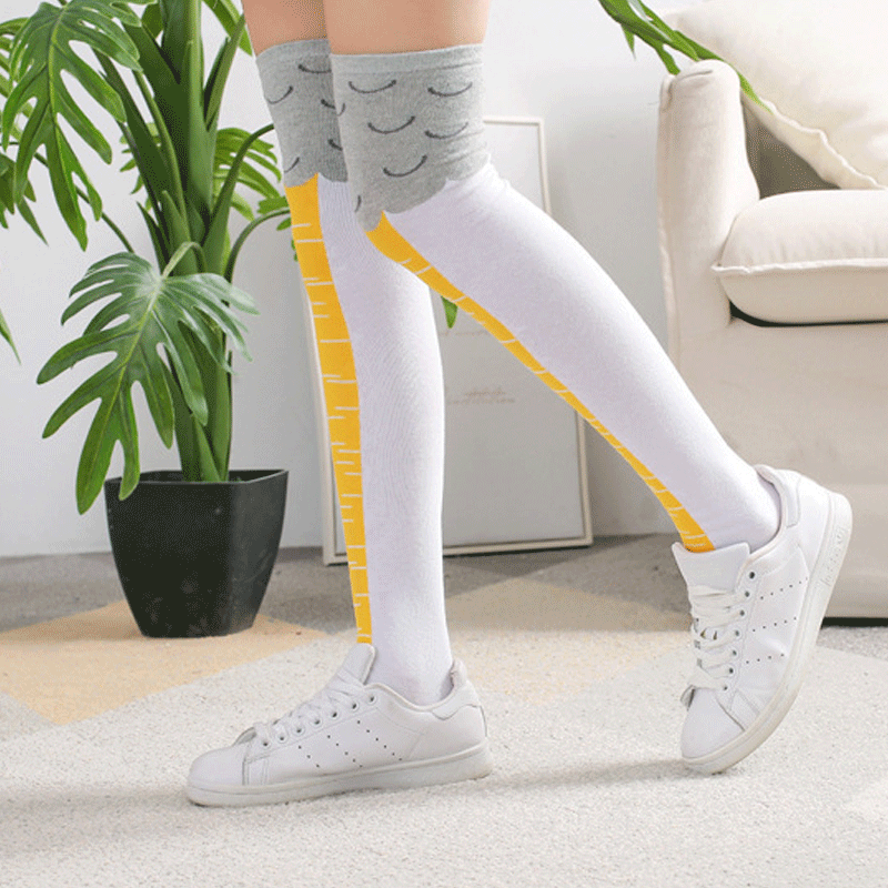 Chicken Feet Knee High Socks One Size Stretchy for Women