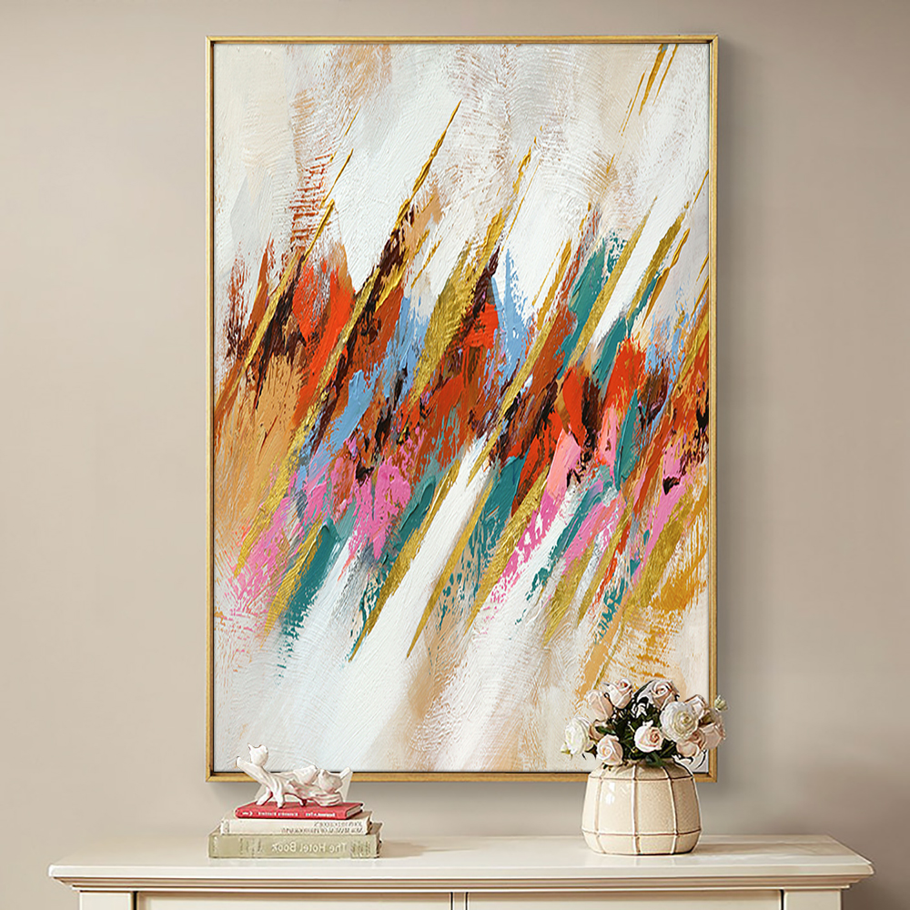 Abstract Colorful Painting Hand Painted Oil Painting On Canvas Modern Handmade Wall Art Paintings For Living Room Home Decor