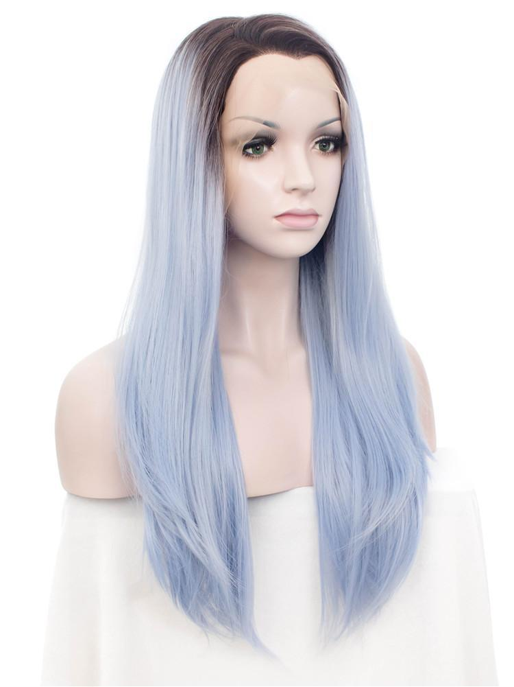 AZURE BLUE STRAIGHT Synthetic Lace Front Wig