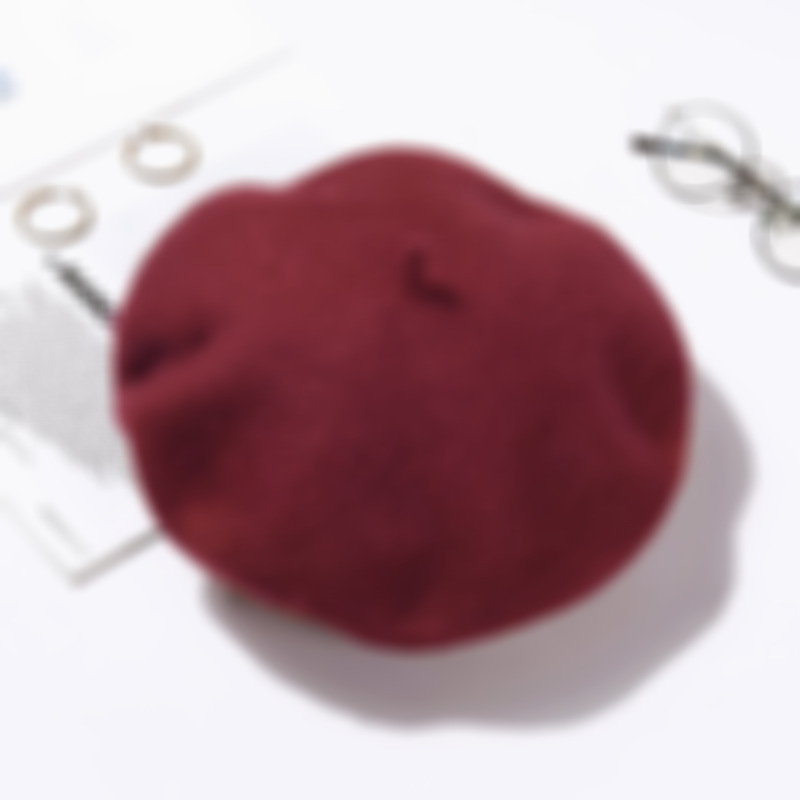 Autumn and winter casual ladies wool warm beret