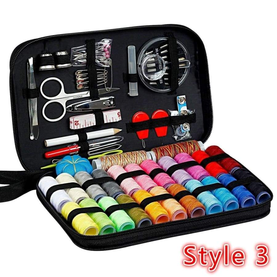 Sewing Kit With 99 Premium Sewing Accessories, Practical Mini Travel sewing kit with Black Zipper Bag Home Travel Campers Emergency