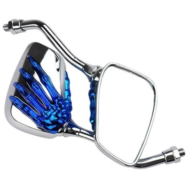 New fashion adjustable 1 pair of skeleton handcuffs motorcycle motor rearview mirror (multiple colors available)