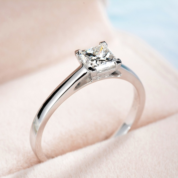 Women Fashion Elegant 925 Sterling Silver Big Cube Diamond Gemstone Rings Wedding Engagement Party Ring Jewelry