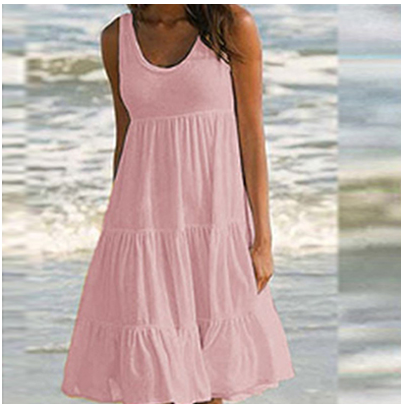 Summer Sleeveless Swing Beach Dress[BUY 3 FREE SHIPPING!!]