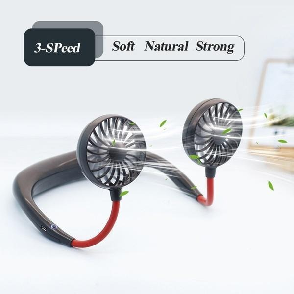 2020 SUMMER MARKDOWN & BUY 2 ENJOY EXTRA 15% OFF) Rechargeable Neckband Fan