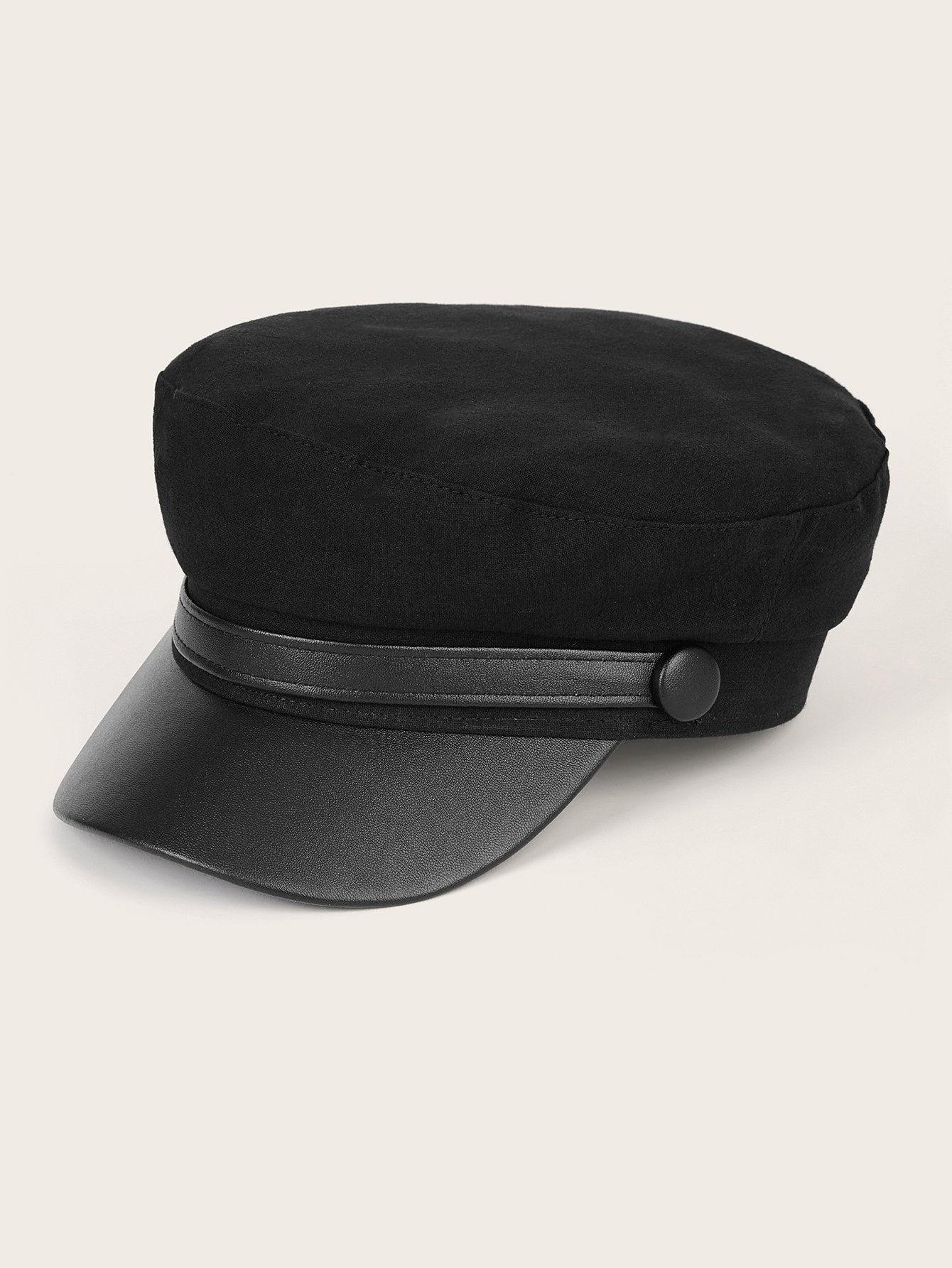 PU Belt Decor Berets