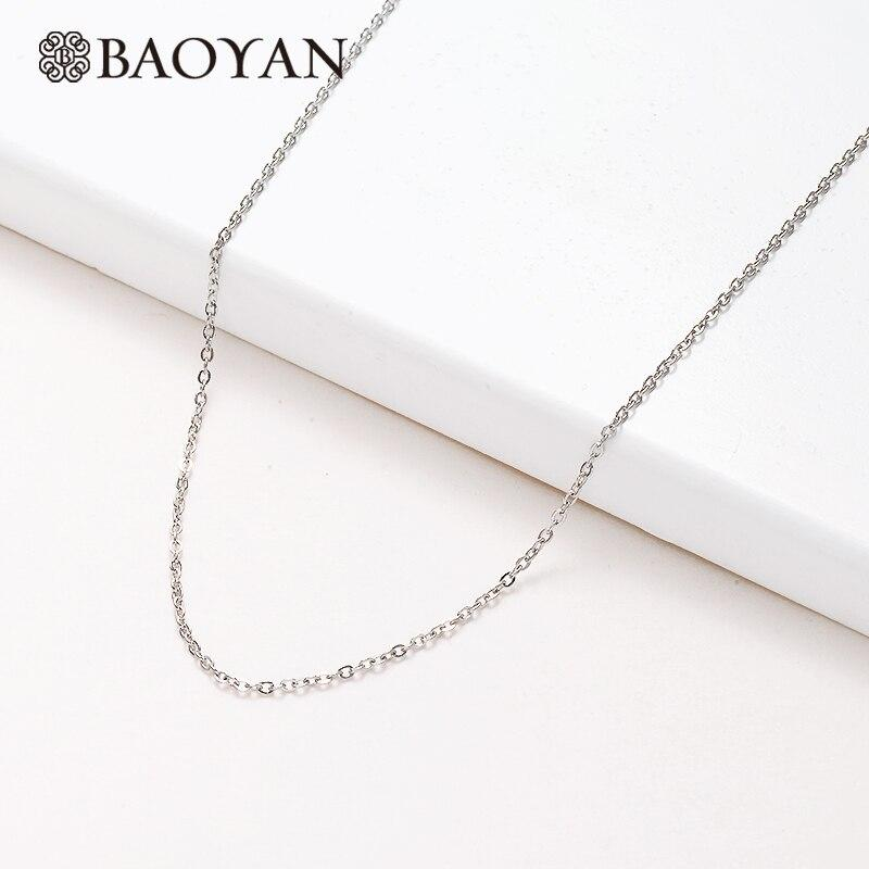 Baoyan Wholesale 316L Stainless Steel Chains For Jewelry Making Gold/Silver Plating Metal Chains Jewelry Finding DIY Acceossries