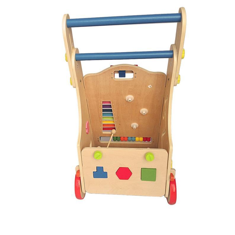 Wooden Baby Walker, Wooden Toddler Toy, Wooden Adjustable Trolley Educational Toy, Cognition Toy, Christmas Gift,  Birthday Gift