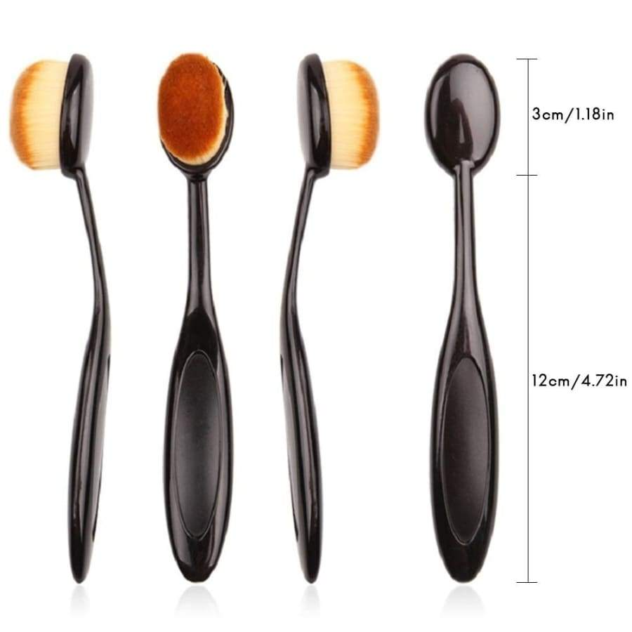 Makeup Brushes Oval Cosmetic Makeup Toothbrush Pro Blush Face Powder Foundation Brush Makeup Tool