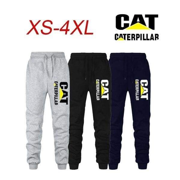 New Logo Caterpillar Gyms Mens Joggers Sweatpants Trousers Sports Clothing Bodybuilding Pants