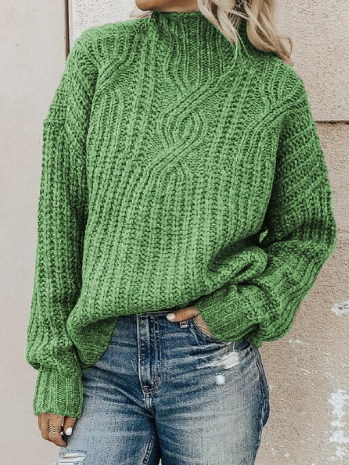 Casual Plus Size Turtleneck Sweater Pullover(Free Shipping)