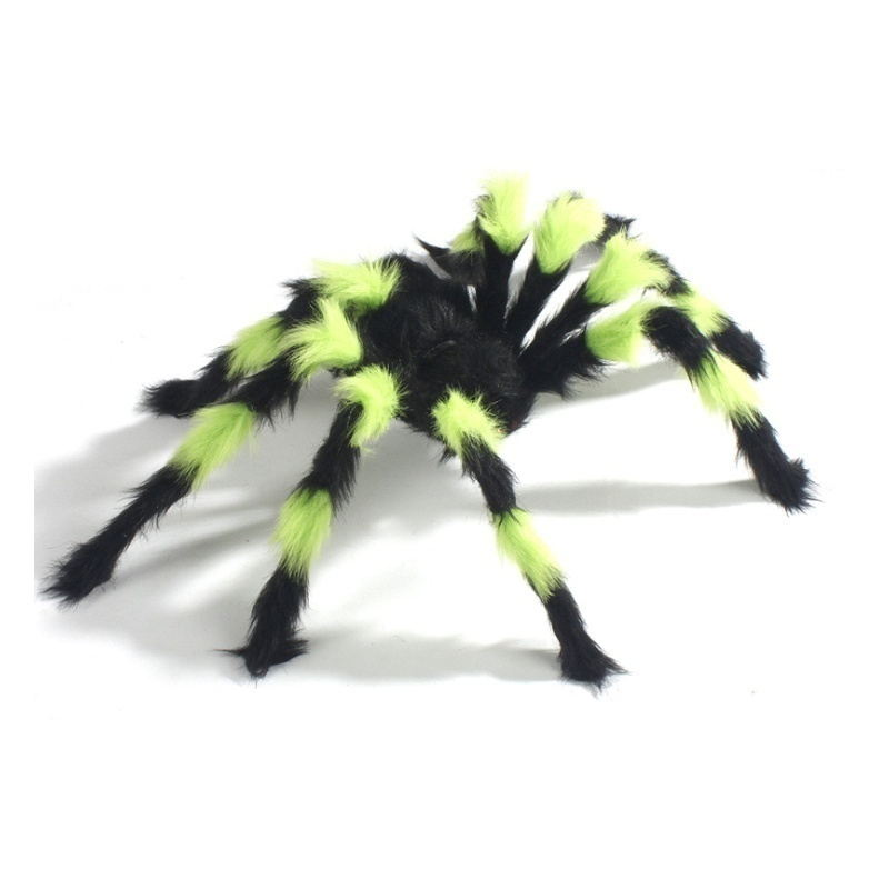 Halloween Hanging Decorative Large Spider Decoration House Outdoor Bar Party Decoration Spoof Tricky Halloween Spider Decoration Black Colorful (30/50/60/75/90/125/150CM)