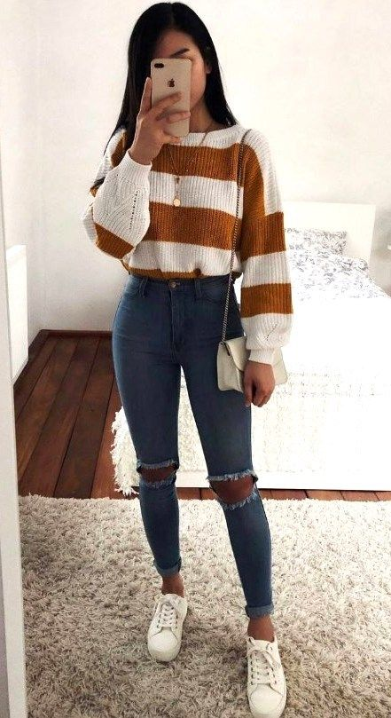 Jeans Outfit For Women Casual Wear Navy Formal Dress Ripped Jeans Noga Pants Oversized Turtleneck Sweater Club Outfits For Women