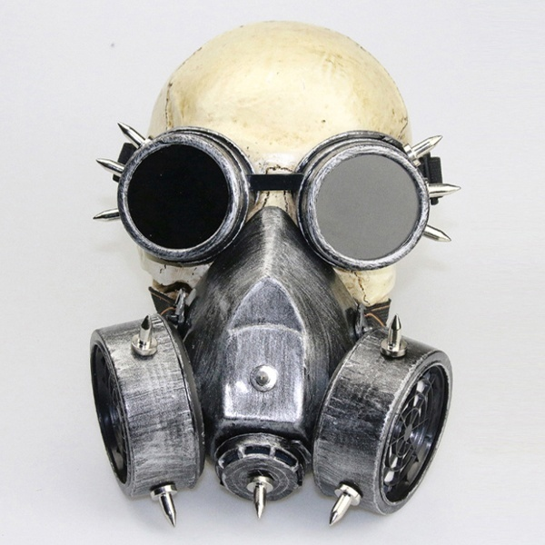 Significance Gothic Fashion Steampunk Gas Mask with Googles with Real Functions
