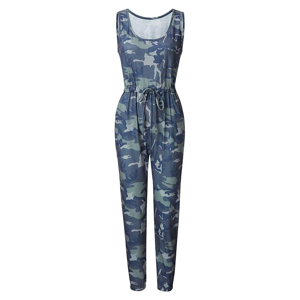 Casual Camouflage Jumpsuit with Pockets
