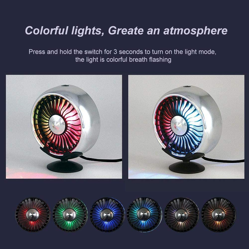 💥BUY 2 FREE SHIPPING!!!💥COLORFUL LIGHT CAR COOLING FAN AIR CONDITIONER