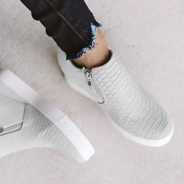 Faddishshoes Wedge Daily Comfy Sneakers