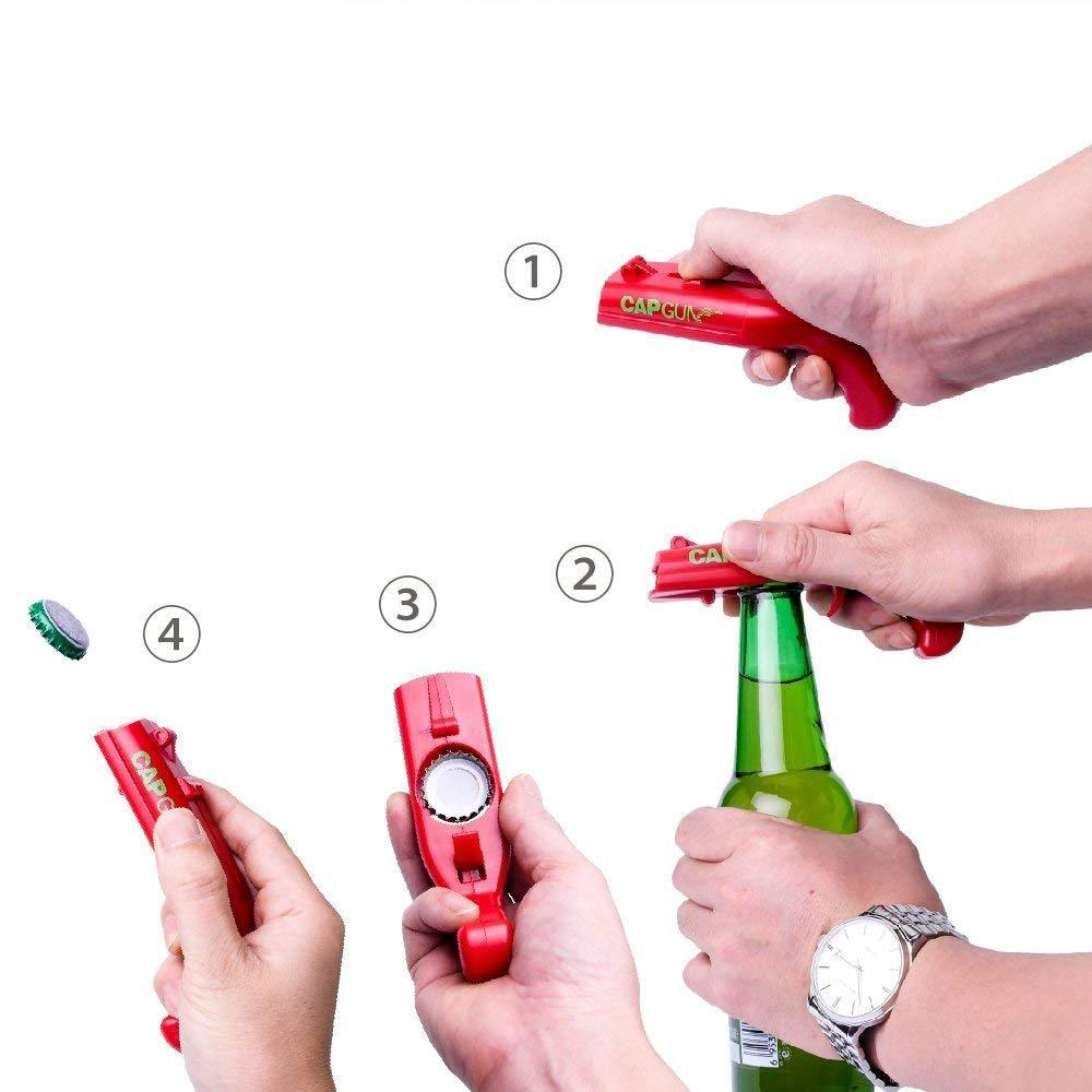 Cap Gun Beer Bottle Opener Cap Shooters Launchers for Party Drinking Game