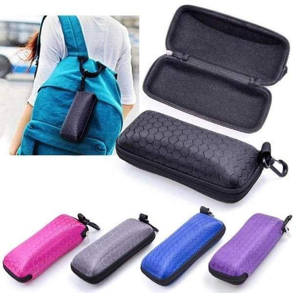 Fashion Newly Protable Rectangle Zippered Sunglasses Hard Sunglasses Case Protector Box Protective Cases Glasses Bags