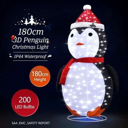 New 3D Penguin Christmas Lights 200 LED Rope Xmas Decoration Outdoor Home Display