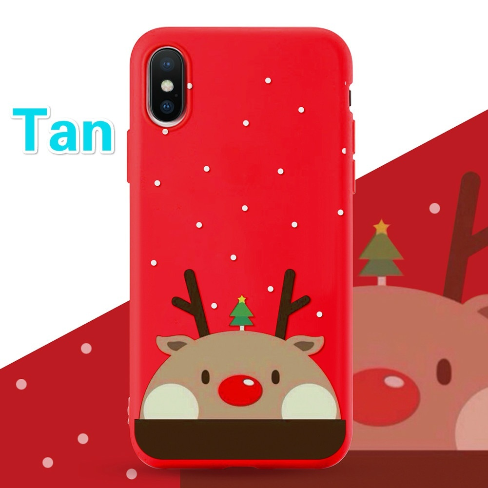 Christmas navidad noel Mobile Accessories Couple Gifts Soft TPU Silicone Thin Case For Coque Samsung galaxy A5 A70 A40 A60 A30 A20e S7 Edge S8 S9 S10 Plus S10e Xmas Cases iPhone XS Max XR 7 8 6 6s Plus 5 5S SE Cover Oneplus Funda Bags Etc
